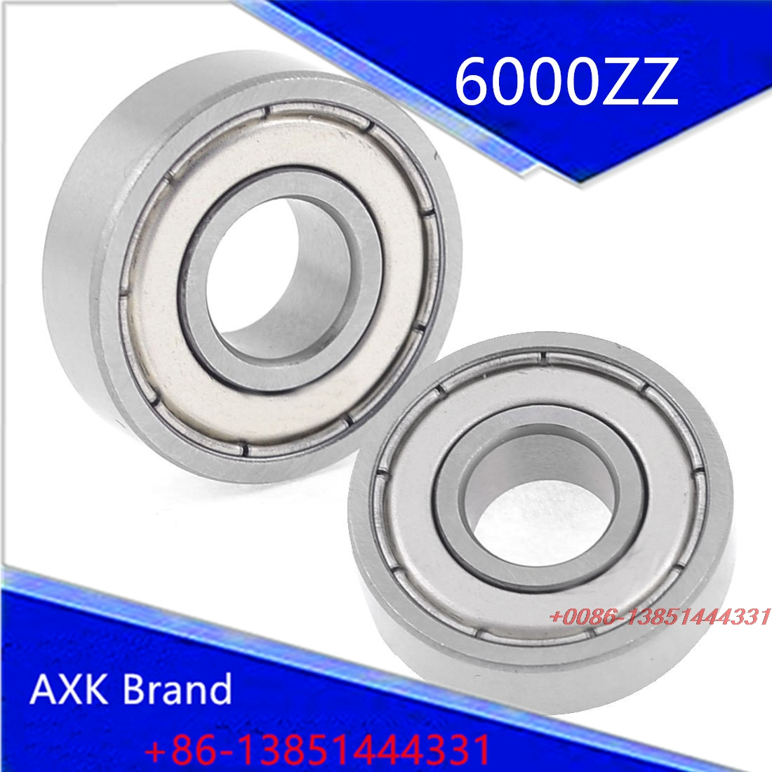 AXK  6000ZZ Dual Shielded Sealed Deep Groove Ball Bearings 10x26x 8mm gcr15 6036 180x280x46mm high precision deep groove ball bearings abec 1 p0 1 pcs