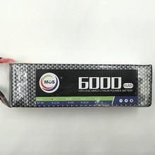 MOS 4S 14.8 В 6000 25c lipo аккумулятор для rc самолет бесплатная доставка