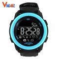 2017 vwar bluetooth smart watch smartwatch hombres mujeres reloj de pulsera correa de cuero dispositivo portátil para apple ios android teléfono