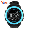 2017 vwar dispositivo wearable bluetooth smart watch smartwatch relógio de pulso das mulheres dos homens de pulso pulseira de couro para a apple ios android phone