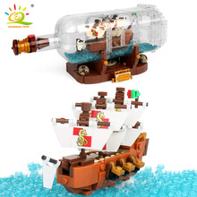 1078Pcs Minecrafted Onepiece Boat In The Bottle Building Blocks Compatible Legoed City Pirate Ship Interactive Toys For Children(China)