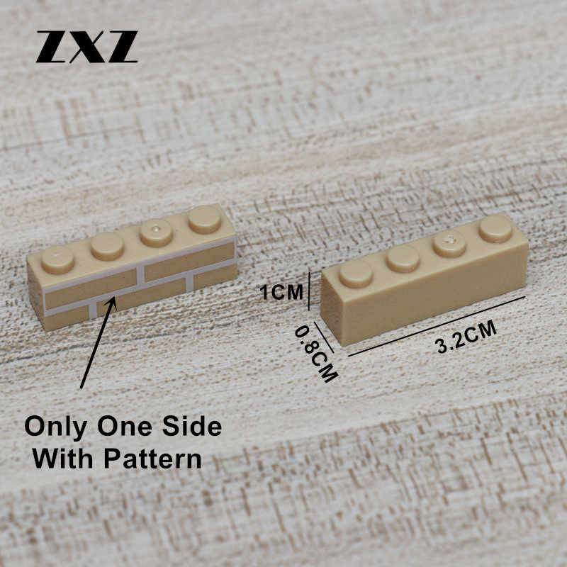 20 штук DIY строительные блоки с толстыми стенками цифры кирпичи 1x4 точки WW2 Военные Аксессуары совместимость в стиле лего игрушки для детей сборка