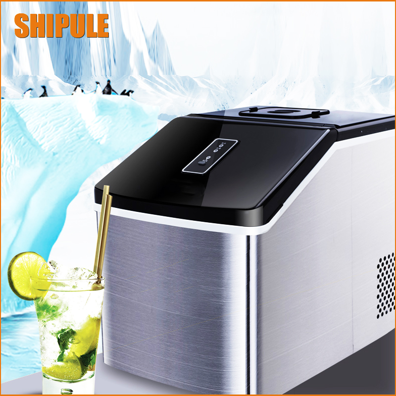 1pc 25kgs/24H Portable Automatic ice Maker, Household ice cube make machine for home use, bar, coffee shop edtid portable automatic ice maker household bullet round ice make machine for family small bar coffee shop 220 240v 120w eu us