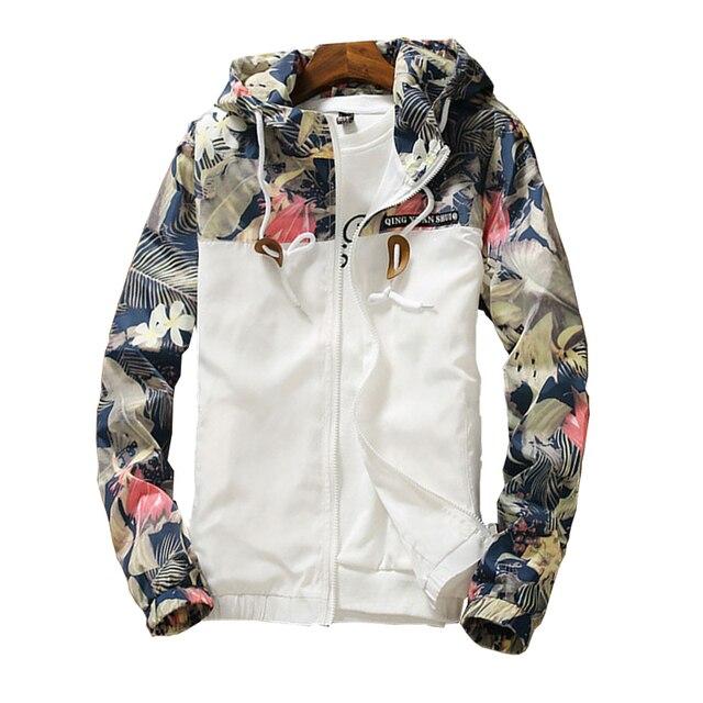Women's Hooded Jackets 2021 Spring Causal Flowers Windbreaker Women Basic Jackets Coats Zipper Lightweight Jackets Bomber Famale 2
