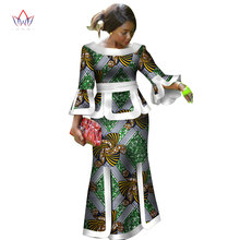 ФОТО africa two piece set for women fashion 2018 dashiki wrist sleeve african clothes bazin plus size lady clothing for party wy2718
