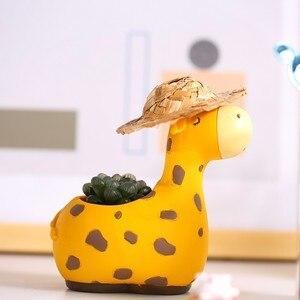 Image 4 - Succulente Vaso da Fiori Super Cute Pianta Vaso di fiori Creativo di Personalità Carino Pianta carnosa Resina Vaso di fiori Per Desktop di casa decorazione