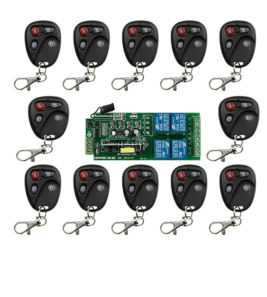 ФОТО Hot Sales AC85v~250V 110V 220V 230V 4CH Wireless Remote Control Switch System Receiver and Transmitter Applicance Garage Door