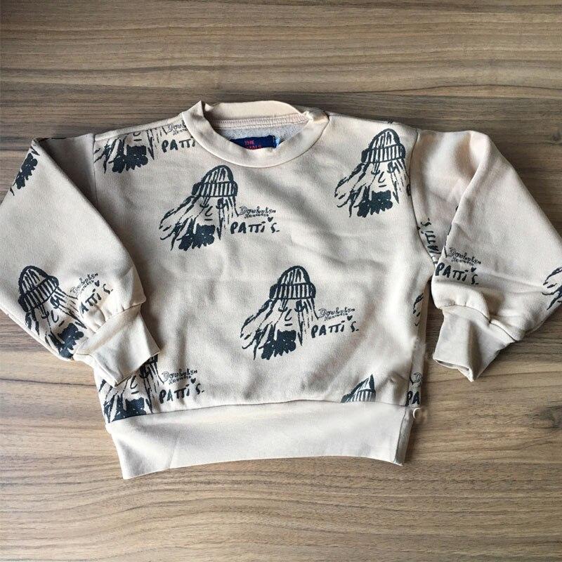 BBK 2018 baby Kids girls cartoon long sleeve cotton T-shirt bobo shose&TAO sweater jerseys boys clothes Sweatshirt autumn Top