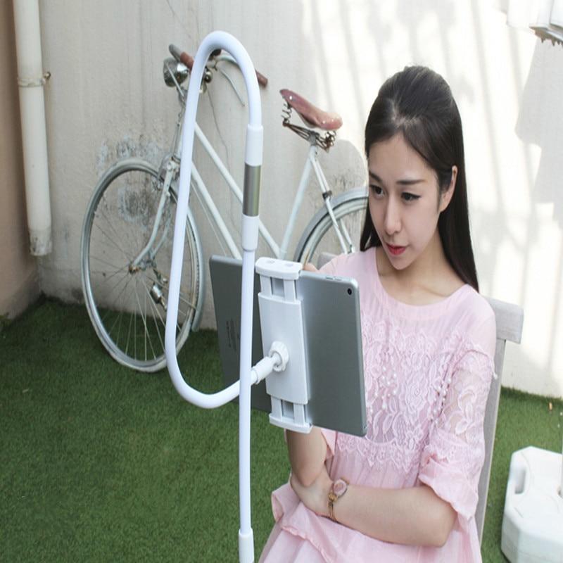 Support de tablette 85/130cm Long bras lit/attache de bureau support pour 3,5 pouces à 10.6 pouces ipad Air Mini Xiaomi M ipad Kindle téléphone tablette