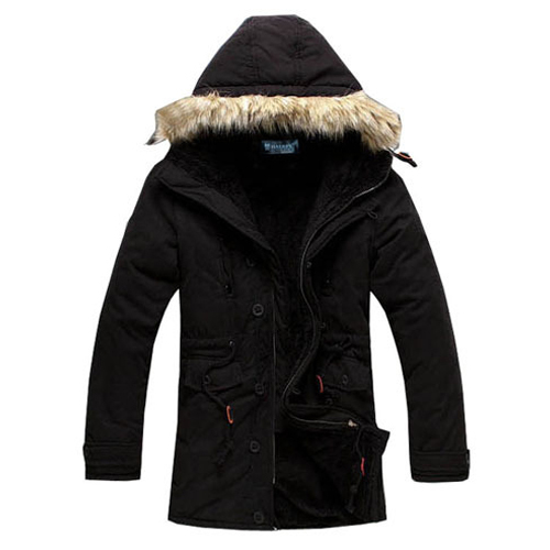 ФОТО 2016 New Fashion Winter Men Winter Jacket  Warm Fur Collar Coat Mens Hooded Coats Parka Jaqueta Masculina 13M0106