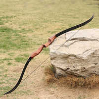 40/50/60 lbs 58inch Red Archery Take Down Hunting Bow Wooden Shooting Recurve Bow Fiberglass Limbs Game Practice