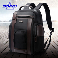 BOPAI New Medium Travel Backpacks Black For Men Waterproof 15 6 Inch Computer Backpack Bags Strong