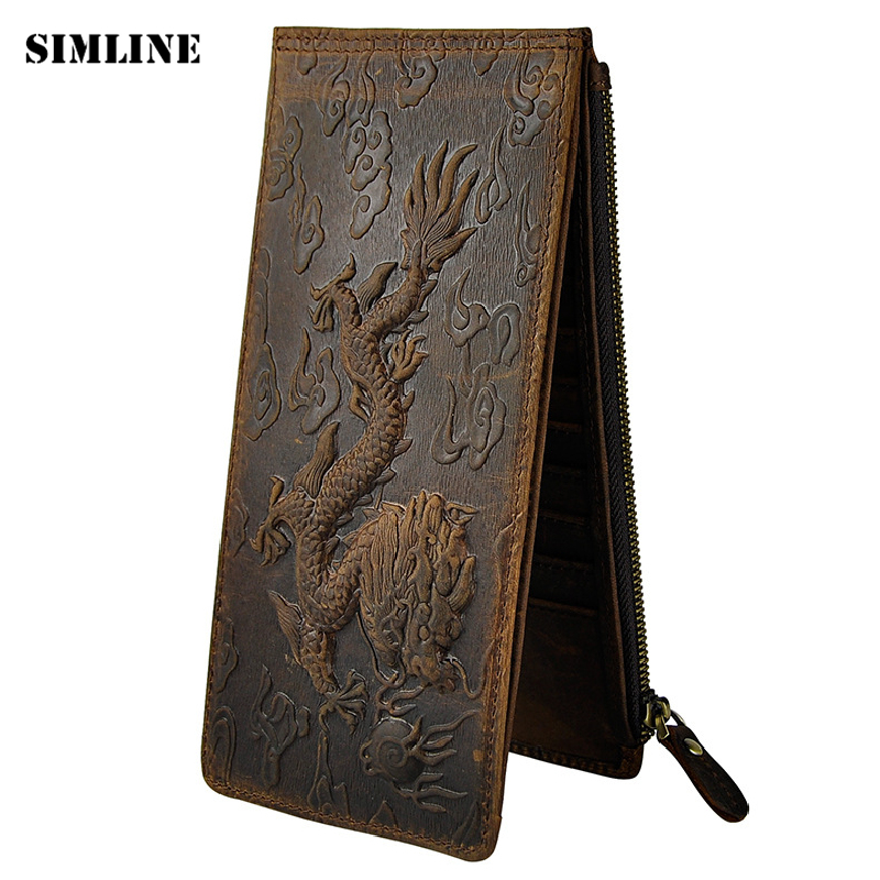 Vintage Brand Genuine Crazy Horse Leather Cowhide Men Long Clutch Wallet Coin Purse Zipper Pocket Wallets Card Holder For Man 433mhz 4 channel wireless paging calling system 2 watch receiver 8 call button restaurant waiter call pager system f4411a