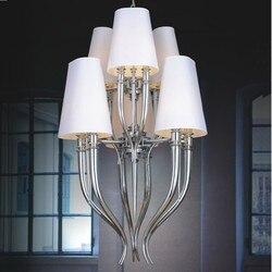 IPE cavalli brunilde Wisząca lampa oświetlenie biały Wisząca lampa światła do hali salon nowoczesny żyrandol oświetlenie w Wiszące lampki od Lampy i oświetlenie na