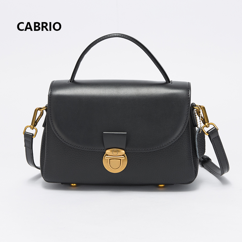 CABRIO Women Genuine Leather Crossbody bags Small Handbags Patchwork Leather Girl Bags Candy Color Flap Messenger Bags For Women twenty four women brand flap bags natural genuine leather handbags with chain solid color cover small bags young cross body bags