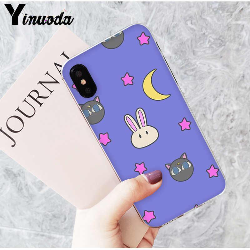 Yinuoda śliczne żeglarz księżyc ładna anime dziewczyna Fundas etui na telefony dla iPhone 8 7 6 6S Plus X XS MAX 5 5S SE XR 10 11 11pro 11promax