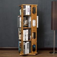 Bookcases Living Room Furniture Home Furniture bamboo 360 degree rotated bookshelf book stand book rack modern minimalist new