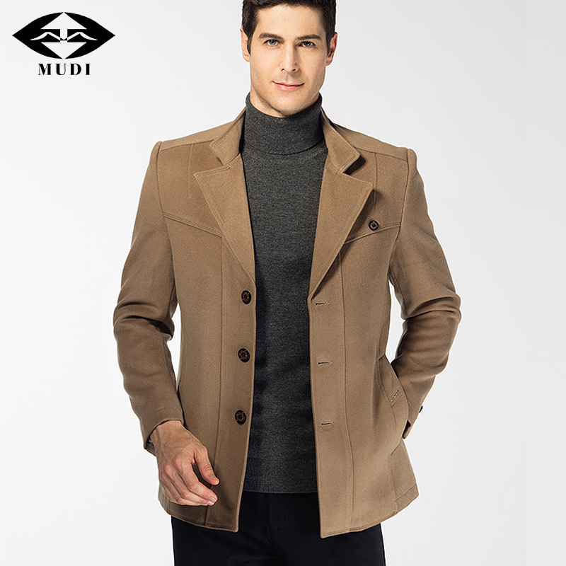 MUDI Brand Men Blaser Upscale Autumn Winter Warm Anorak Varsity Jacket Russian Male Trench Parka Clothing Topcoat Windbreaker