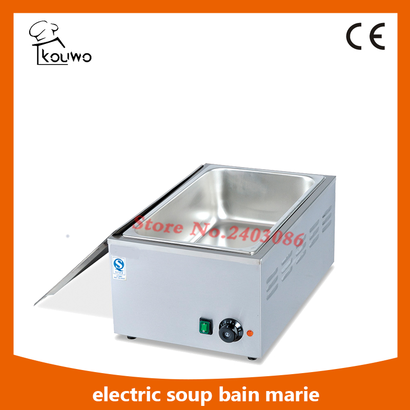 Commercial desktop hotel buffet Equipment Electric stainless steel 1 Pans food warmer Bain Marie for sale