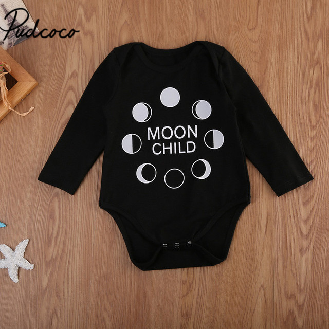 d53866f69 Autumn Baby Boys Fashion Clothes One Piece Letters Print 1St Birthday Black Newborn  Baby Boys Girls Long Sleeve O-Neck Bodysuit