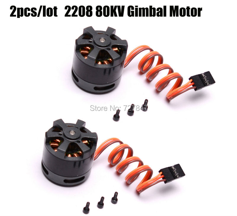 2pcs/lot LD-POWER 2208 39g 3mm shaft Gimbal Brushless Motor 80KV for 100-200g GoPro frame