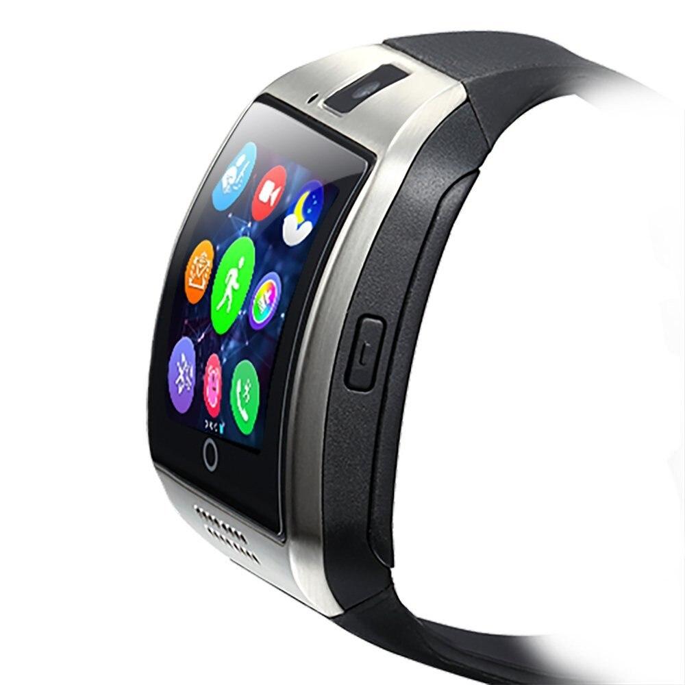imágenes para 2016 Nuevo Q18 Reloj Inteligente con Cámara Tarjeta SIM Reloj de Pulsera Bluetooth Smartwatch para Android Ios Teléfonos Soporte Multi Idiomas
