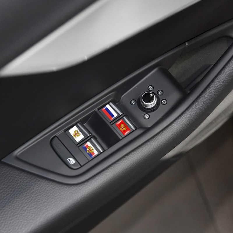 10 pçs/set volante 3D Epóxi Estilo Do Carro apto para lada niva kalina priora Escudo Etiqueta Do Carro Bandeira Nacional Russa emblema