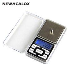 NEWACALOX 100g x 0.01g Mini Precision Digital Diamond Pocket Jewelry Scale Display Units Pocket Electronic Scales