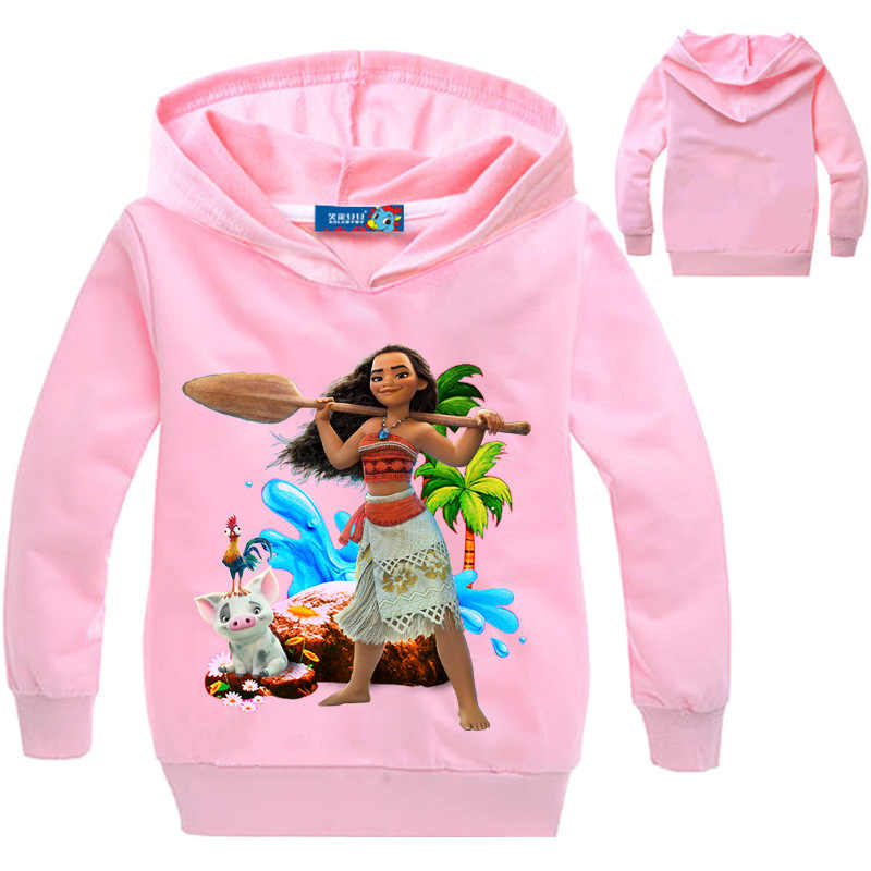 35c336a8c37 Ropa 3-14 años Moana suéter Coatt para niñas primavera otoño niños manga  larga Impresión