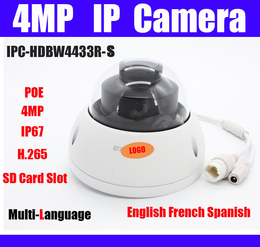 Original 4MP ip camera IPC HDBW4433R S Replace IPC HDBW4431R S H 265 IP67 IK10 Waterproof