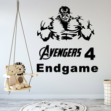 Cartoon hulk Home Decor Wall Stickers For Kids Rooms Decoration Living Room Wall Art Decal Bedroom Wall Mural adesivo de parede цена