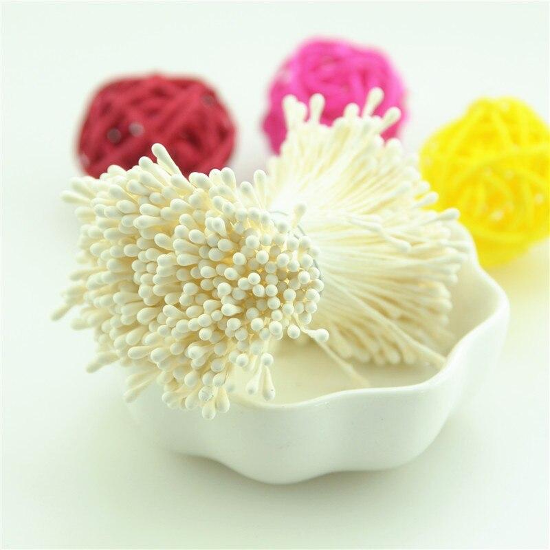 400 Stk 1.5mm Mini Staubblatt Handmade Künstliche Blumen für Hochzeitsparty