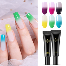 BORN PRETTY 20ml Poly Extension Gel Polish 2 Layers Thermal Color Changing Design Soak Off UV Varnish Nail Art