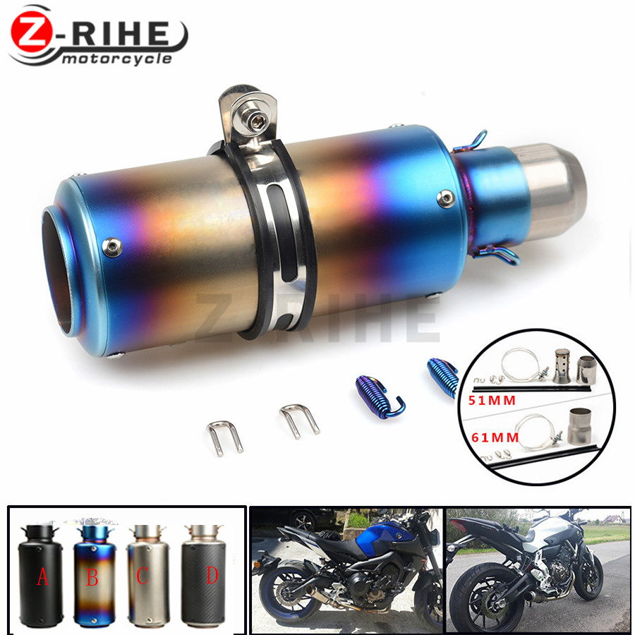FOR Motorcycle Exhaust Pipe Scooter Modified exhaust Muffler pipe For BMW K1200R K 1200 R K 1200R K1200 R 2005-200 цена