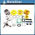 2 Stroke Gold 44mm Big Bore Kit Cylinder Head For 47cc 49cc Engine Chinese Mini Dirt ATV Quad Pocket Bike 4 Wheeler  Minimoto