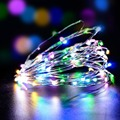 5V USB string led lights 10M 33ft 100led powered outdoor Warm white RGB copper wire christmas festival wedding party decoration