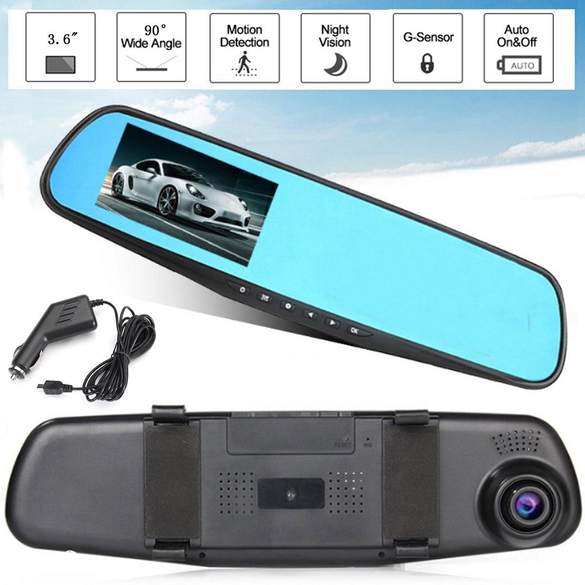 KROAK 3.0\'\' 720P Car DVR Camera Rearview Mirror Auto DVRs Dash Cam ...