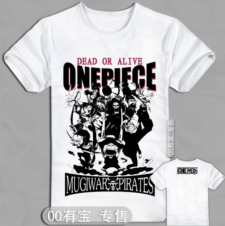 one piece Anime clothes luffy 2 after o 100% cotton short ...