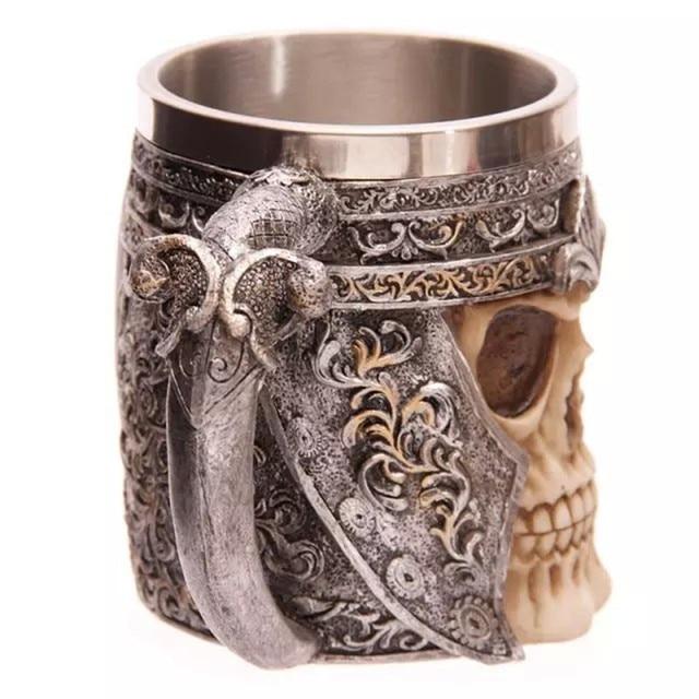 3D Skull Stainless Steel Liner Drinking Skull Mug anime large tea mugs bardak