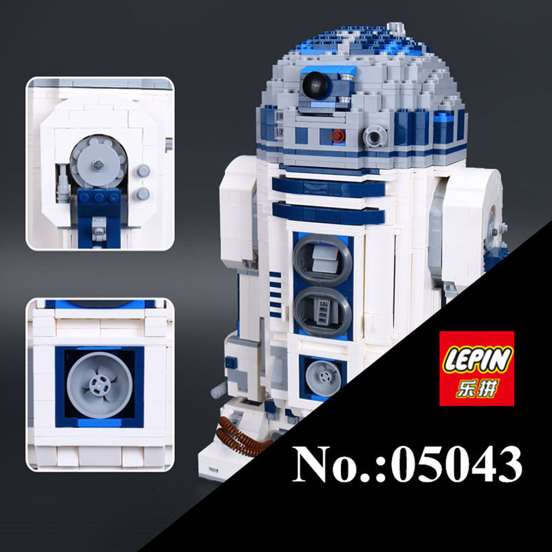 цена на IN STOCK LEPIN 05043 Star 2127 PCS Series W Genuine The R2- Robot Set Out of print D2 Building Blocks Bricks lepin Toys 10225