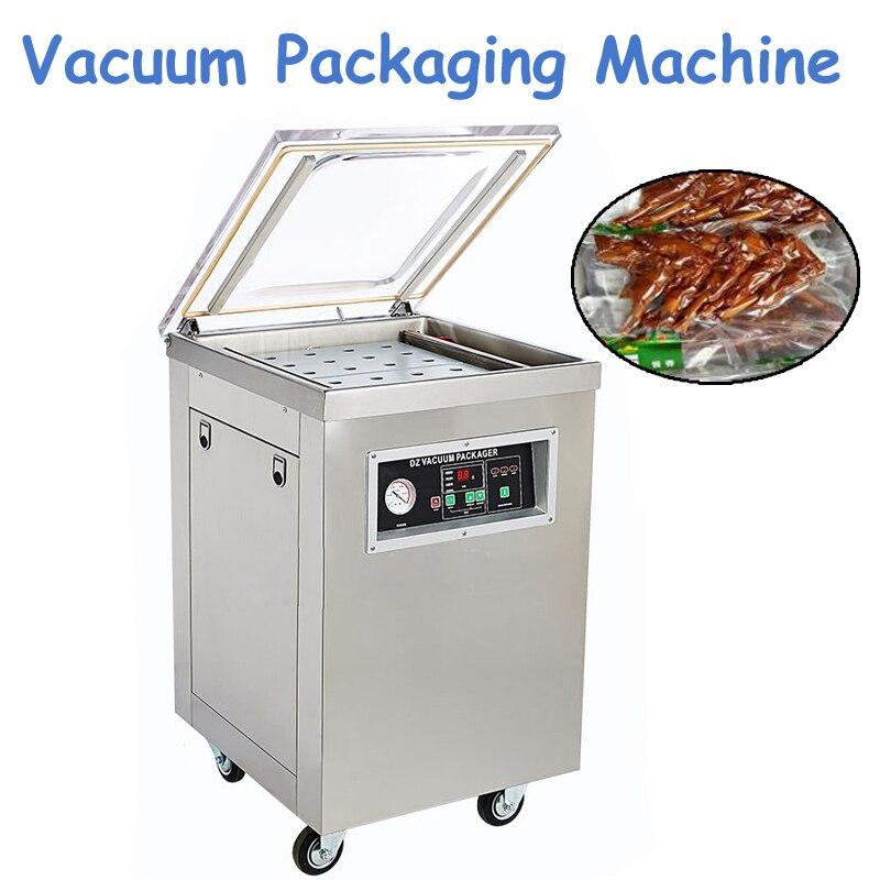 1 pc DZ400 220 V 1000 W Commercial 304 acier inoxydable approfondi Machine d'emballage sous vide à chambre unique