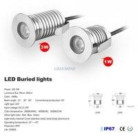 12V 24V IP67 Waterproof Outdoor Led Recessed Deck Floor Light 1W 3W Spotlight Garden Inground LED