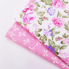 Floral Printing Twill Cotton Fabric For DIY Patchwork Sewing Quilting Material Handmade Breathable Pure Printed