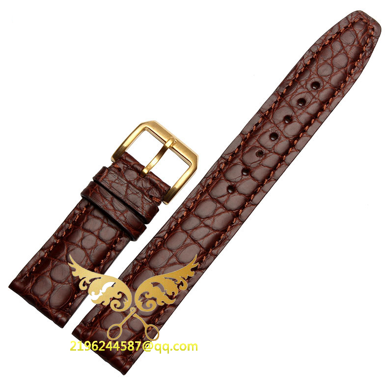 Watch accessories  20mm 21MM 22MM Black Brown Blue New Alligator Genuine Leather Watchbands Strap Bracelet Silver Watch Buckle zlimsn alligator leather watch bands strap watches accessories 20 22mm black brown genuine leather watchbands butterfly buckle