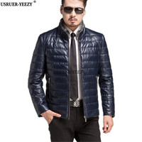 2017 Autumn Winter New Fashion Brand Clothing Men Down Jackets High Quality Male Sheep Skin Leather