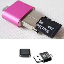 Nueva gran oferta Mini USB 2,0 Micro SD TF T Flash adaptador de lector de tarjeta de memoria Flash 8YOE