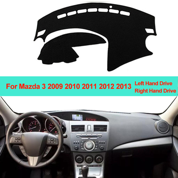Samochód wnętrze deska rozdzielcza pokrywa mata na deskę rozdzielczą dywan poduszki parasol przeciwsłoneczny deska rozdzielcza Pad dla Mazda 3 M3 BL 2009 2010 2011 2012 2013 LHD RHD tanie i dobre opinie ZJZKZR Włókien syntetycznych For Mazda 3 M3 BL 2009 2010 2011 2012 2013