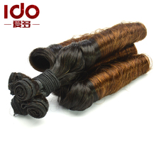 10A Virgin Ombre Brazilian Hair Aunty Funmi Hair,Funmi Meril Tip Curly Weave,Double Drawn Hair 3pcs/ lot aunty funmi bouncy curl