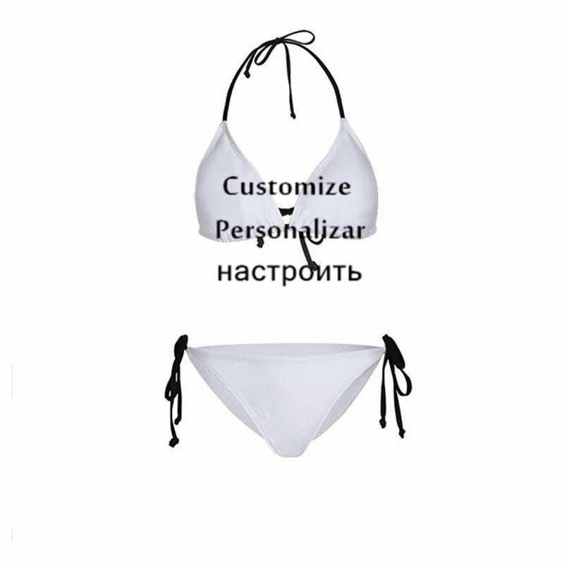 1 Pc Stampa Personalizzata Mini Micro Sling Bikini Set Qualsiasi Modello Personalizza Donne Costume Da Bagno Di Sport Imbottito Della Ragazza Costumi Da Bagno Perizoma Biquini