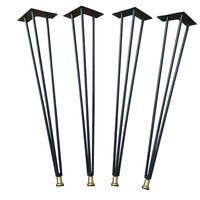 28 Metal Hairpin Table Legs Matte Black With Different Color Leveler Chic DIY Dining Table Legs